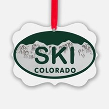 Ski Colo License Plate Ornament