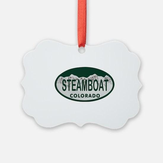 Steamboat Colo License Plate Ornament