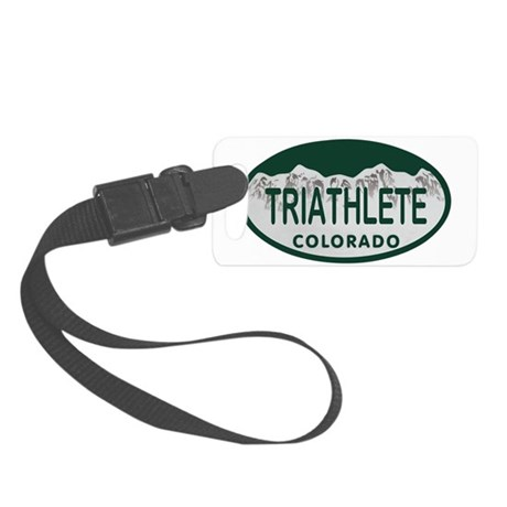 Triathlete Oval Colo License Plate Small Luggage T