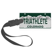 Triathlete Colo License Plate Luggage Tag