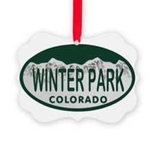 Winterpark Colo License Plate Ornament