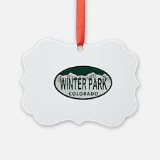Winterpark Colo License Plate Ornament