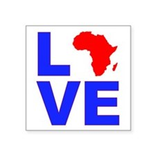 "Love Africa Square Sticker 3"" x 3"""