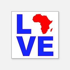 """Love Africa Square Sticker 3"""" x 3"""""""