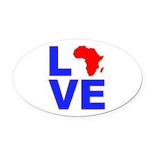 Love Africa Oval Car Magnet