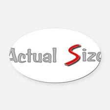 Actual Size Oval Car Magnet