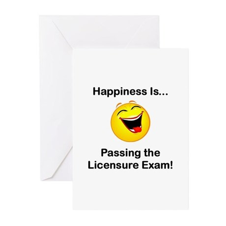 Happiness is Licensure Greeting Cards (Package of