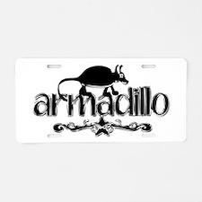 armadillo Aluminum License Plate