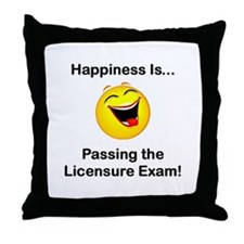 Happiness is Licensure Throw Pillow