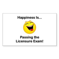 Happiness is Licensure Rectangle Decal