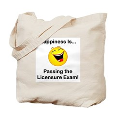 Happiness is Licensure Tote Bag