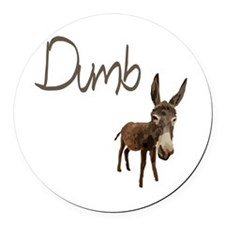 Dumb Donkey Round Car Magnet
