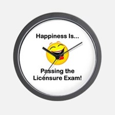 Happiness is Licensure Wall Clock