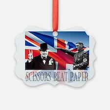 Scissors Beat Paper Ornament
