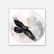 "Flying Crow Square Sticker 3"" x 3"""