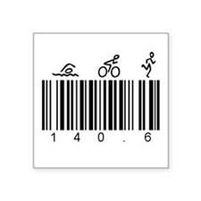 "Bar Code 140.6 Square Sticker 3"" x 3"""