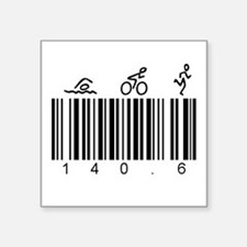 "Bar Code 140.6 Square Sticker 3"" x 3"""