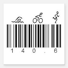 "Bar Code 140.6 Square Car Magnet 3"" x 3"""