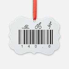 Bar Code 140.6 Ornament
