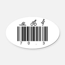 Bar Code 70.3 Oval Car Magnet