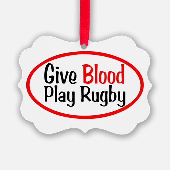 Give Blood_Rugby.png Ornament
