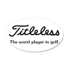 Titleless.png Oval Car Magnet
