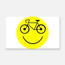 Smiley Cycle Rectangle Car Magnet