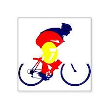 "Colorado Cycling Square Sticker 3"" x 3"""
