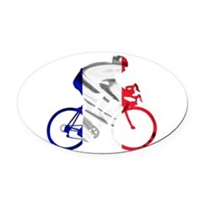 le Tour de France Oval Car Magnet