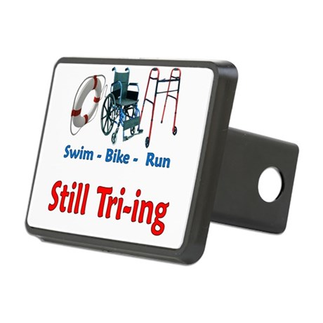 Still Tri-ing Rectangular Hitch Cover