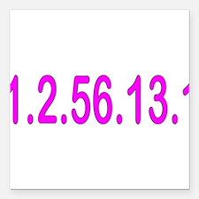"1256131_blue.png Square Car Magnet 3"" x 3"""
