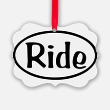 Ride Oval Ornament