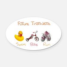 Future Girl Triathlete Oval Car Magnet