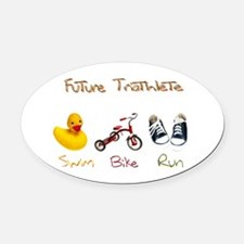 Future Triathlete Oval Car Magnet