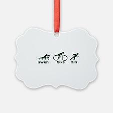 Swim Bike Run Ornament