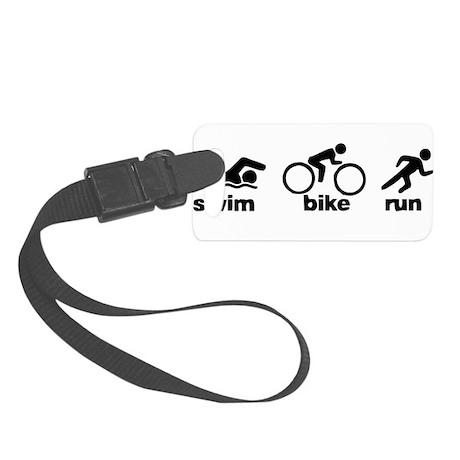 Swim Bike Run Small Luggage Tag