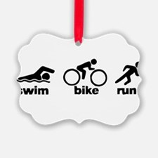 Swim Bike Run Ornament