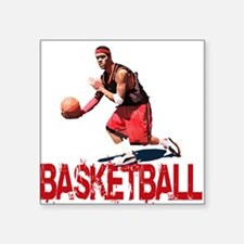 "Streetball Dribble Square Sticker 3"" x 3"""