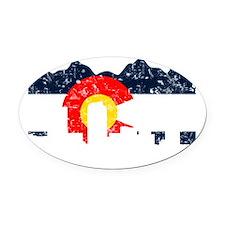 CO_Flag2_wash_Navy.png Oval Car Magnet