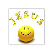 "Jesus Smile Square Sticker 3"" x 3"""