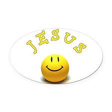 Jesus Smile Oval Car Magnet
