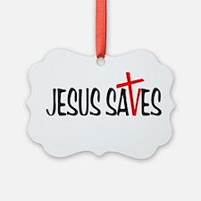 Jesus Saves Ornament