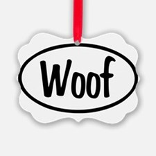 Woof Oval Ornament