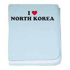 I Love North Korea baby blanket