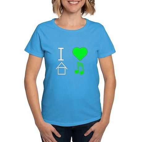 I love House Music Women's Dark T-Shirt