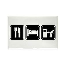 Eat Sleep GAS Rectangle Magnet