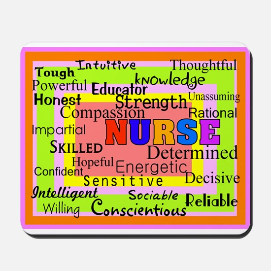 Nurse Blanket oranges.PNG Mousepad