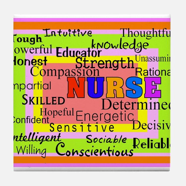 Nurse Blanket oranges.PNG Tile Coaster
