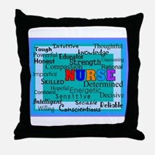 Nurse Blanket blue.PNG Throw Pillow