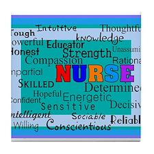 Nurse Blanket blue.PNG Tile Coaster